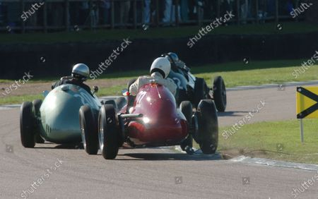 2005 Goodwood Revival Meeting Goodwood, West Sussex. 16th - 18th September 2005 Goodwood Trophy. Willie Green (Maserati 4CLT), clips the TV camera, set into the Woodcote corner and drifts wide. World Copyright: Jeff Bloxham/LAT Photographic Digital Image Only