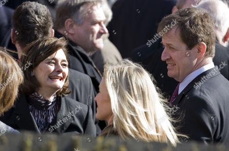 Cherie Blair and Alastair Campbell