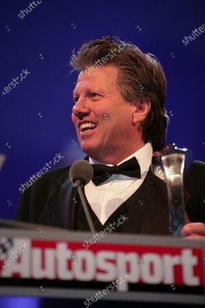 2005 Autosport Awards Grosvenor House, London. 4th December. John Force accepts his John Bolster Award. Portrait. World Copyright: Peter Spinney/LAT Photographic