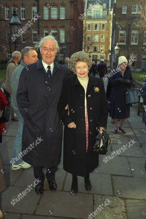 Editorial image of Paul Eddington Memorial Service Famous Acting Couple Michael Denison And Wife Dulcie Gray (denison Died 22/7/98)