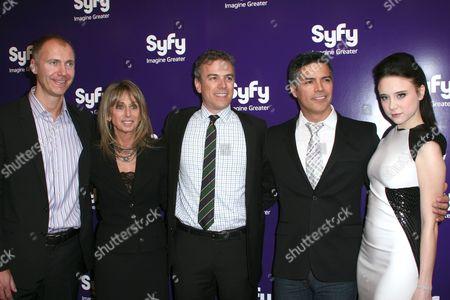 Stock Photo of David Howe, Bonnie Hammer, Mark Stern, Esai Morales and Alessandra Torresani