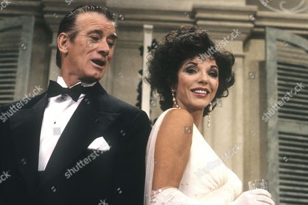 'Private Lives' at The Aldwych Theatre, London - Keith Baxter and Joan Collins