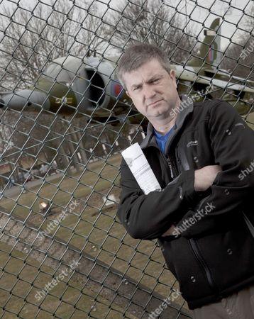 Editorial image of Neil Allison, Save RAF Cottesmore Campaigner, Rutland, Britain - 12 Mar 2010