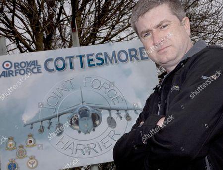 Editorial picture of Neil Allison, Save RAF Cottesmore Campaigner, Rutland, Britain - 12 Mar 2010