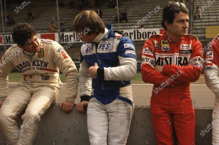 1980 Formula 1 World Championship. Left to right: Jody Scheckter (Ferrari), Didier Pironi (Ligier-Ford Cosworth) and Patrick Depailler (Alfa Romeo). Ref-D2A 09. World - LAT Photographic