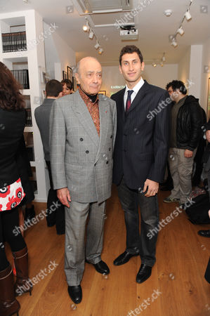 Mohamed Al Fayed and son Karim Fayed