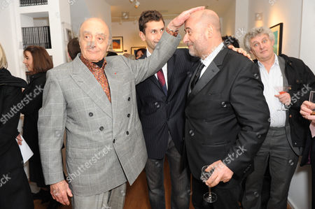 Mohamed Al Fayed, son Karim Fayed and Richard Young