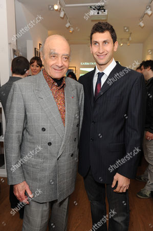 Mohamed Al Fayed with his son Karim Fayed