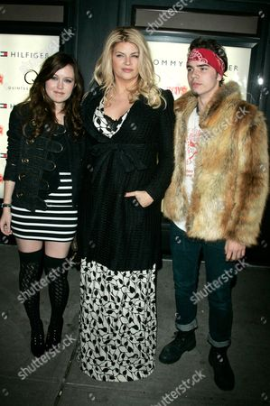 Kirstie Alley with daughter, Lillie Price and son William True