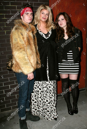 Stock Photo of Kirstie Alley, son William True, and daughter Lillie Price
