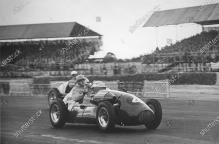 Stock Image of 1952 British Grand Prix. Silverstone, Great Britain. 19 July 1952. Kenneth Downing (Connaught A-type-Lea-Francis). World Copyright - LAT Photographic