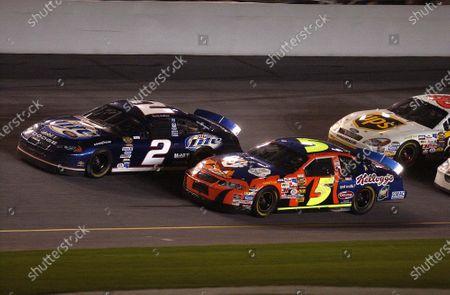 2004 NASCAR Nextel Daytona 500 USA February 15 Rusty Wallace and Terry labonte World Copyright - RobT LeSieur 2004 LAT Photographic