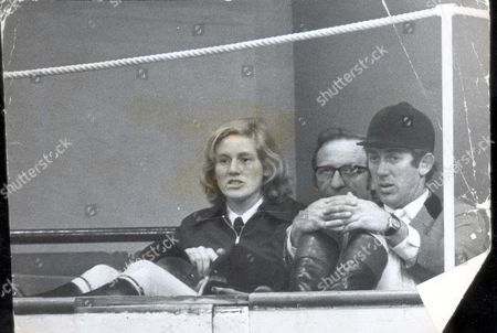 Horse Of The Year Show 1972: Show Jumper David Broome Watching Ann Moore On April Love (not In Shot).