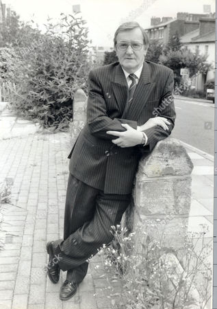 Ted Knight Former Lambeth Council Leader Outside His Home In Woolwich.