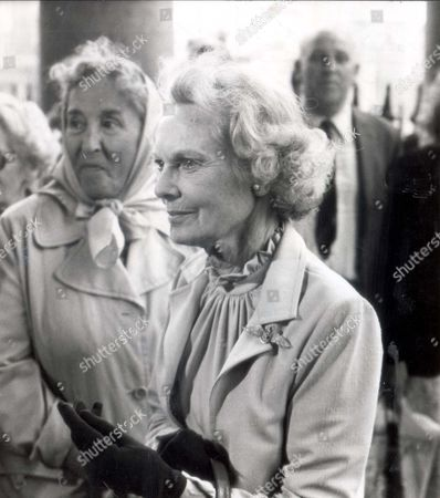 Editorial picture of Dame Anna Neagle (1904-1986) Pictured At A Memorial Ceremony At St-martin-in-the-fields Church For The Actor Kenneth More.
