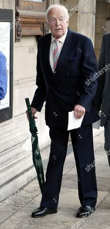 Tony Britton Arrives For Sir John Mills' Memorial Service At St Martin-in-the-fields London.