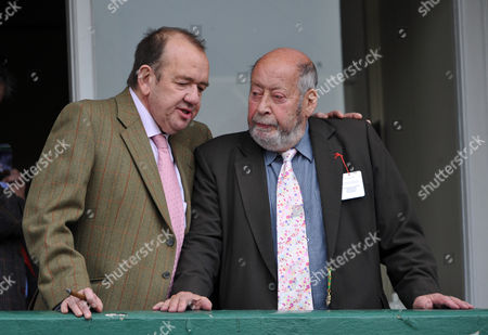 Mel Smith Talks With Clement Freud At The Cheltenham Festival. . Sir Clement Freud Died 15/4/2009 Cheltenham Festival Day Two.