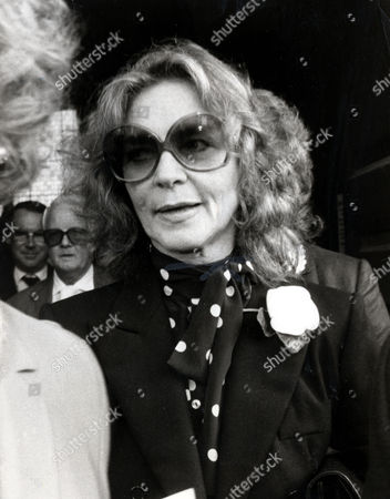 Editorial image of Lauren Bacall Actress At A Memorial Service For Actor Kenneth More In London