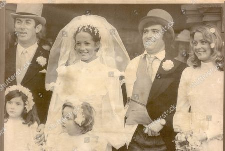 David Broome - 1976 Lining Up For The Wedding Group Graham Fletcher With His Arm In A Sling Has His Shirt Hanging Out. Left To Right: David Broome Elizabeth Fletcher-graham Fletcher And Bridesmaid Karen Martin. Top Rider David Broome One Of The Most Elegiable Batchelors On Britain's Showjumping Circuit Was Married Yesterday. His Bride 22-year-old Elizabeth Fletcher Was Cheered By A Crowd Of 350 Well-wishers When She Arrived Ina Rolls-royce At St. Mary's Parish Church Thirsk.... show Jumping-equestrian