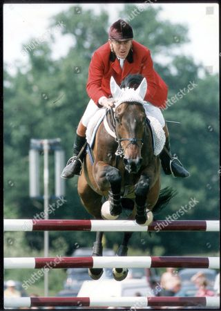 Editorial photo of David Broome - 1992 Flying Away: David Broome Goes Clear On Ancit Countryman At Hickstead Yesterday. ...show Jumping-equestrian