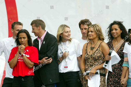 Danny Crates Steve Cram Dame Kelly Holmes Sarah Webb Katy Hill And Margherita Taylor Among The Tense Faces In Trafalgar Square London Wc2 Before The International Olympic Committee Announced That London Had Won Their Bid To Host The 2012 Olympic Games.