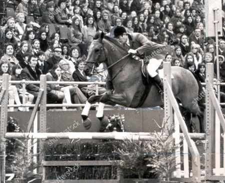 British Show Jumper David Broome On Bally Will Will Taking A Jump. ...show Jumping