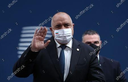 Bulgaria's Prime Minister Book Borissov wearing a face mask arrives for the start of a two days face-to-face EU summit, in Brussels, Belgium, 10 December 2020. EU Leader will mainly focus on response to the COVID-19, Multi annual framework (MFF) agreement and new EU emissions reduction target for 2030.