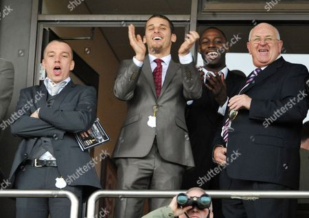 Editorial photo of Jamie O'hara Jonathan Woodgate And David Bentley Spurs Players Cheer On The Horses At The Cheltenham Festival . Picture - Mark Large ... 12.03.09 Cheltenham Festival Day Three .