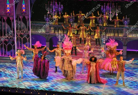 The cast of Pantoland at the Palladium at the London Palladium. Starring Julian Clary, Elaine Paige, Ashley Banjo & Diversity, Paul Zerdin, Nigel Havers, Gary Wilmot, Charlie Stemp, Jac Yarrow and special guest Beverley Knight Showing from Saturday the 12th of  December2020 until Sunday the 3rd of January 2021.