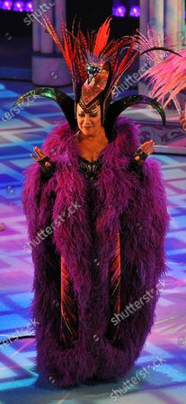 Elaine Paige in costume at the Palladium. The cast of Pantoland at the Palladium at the London Palladium. Starring Julian Clary, Elaine Paige, Ashley Banjo & Diversity, Paul Zerdin, Nigel Havers, Gary Wilmot, Charlie Stemp, Jac Yarrow and special guest Beverley Knight Showing from Saturday the 12th of  December2020 until Sunday the 3rd of January 2021.
