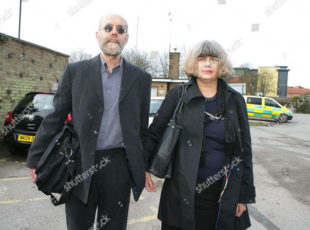 Kathy Ingram, daughter of the late Ena Dickinson and her husband Tony arrive at Sleaford Coroners Court for her late mother's inquest