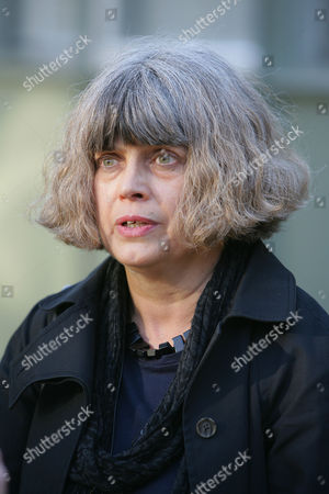 Kathy Ingram, daughter of the late Ena Dickinson, arrives at Sleaford Coroners Court for her late mother's inquest