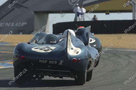2005 Le Mans LegendsLe Mans, France. 17th - 18th JuneJohnny Herbert (Jaguar D - Type) leads Sir Anthony Bamford/Willie Green (Jaguar D - Type). Action World Copyright: Jeff Bloxham Ref: Digital image only.