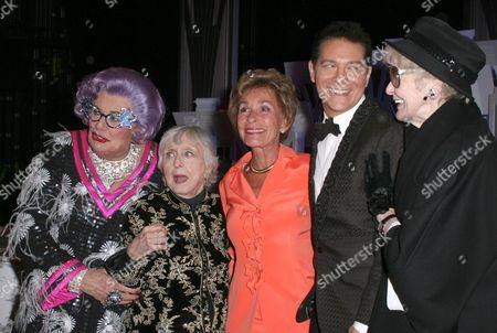 Dame Edna Everage, Celeste Holm, Judge Judy Sheindlin, Michael Feinstein, Elaine Stritch