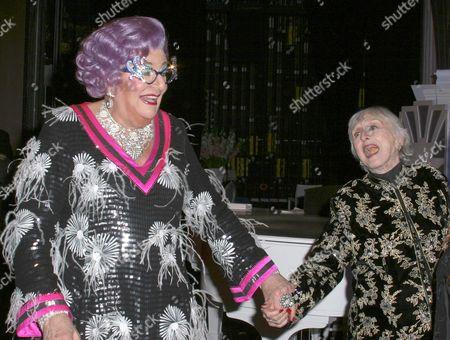 Dame Edna Everage and Celeste Holm