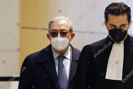 Editorial picture of Nicolas Sarkozy in court on corruption charges, Paris, France - 10 Dec 2020