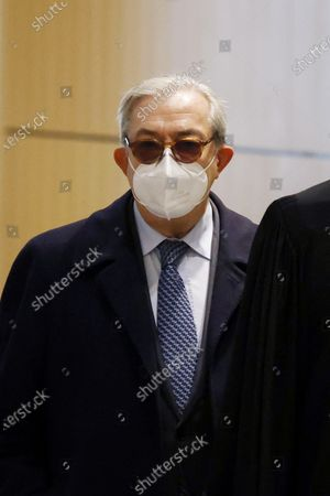 French attorney Gilbert Azibert arrives at the court for Former French president Nicolas Sarkozy's trial on corruption charges in the so-called 'wiretapping affair' in Paris, France, 10 December 2020. In 2013, Nicolas Sarkozy was using a false name, Paul Bismuth, to make phone calls to his lawyer, Thierry Herzog, about the decision that the Court of Cassation was about to take regarding the seizure of presidential diaries in a separate case. The trial is due to run from 23 November to 10 December 2020.
