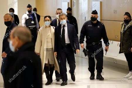 Editorial photo of Nicolas Sarkozy in court on corruption charges, Paris, France - 10 Dec 2020