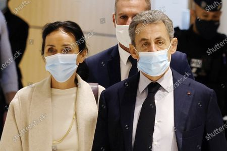 Editorial image of Nicolas Sarkozy in court on corruption charges, Paris, France - 10 Dec 2020
