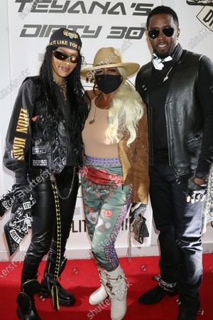 Stock Photo of Teyana Taylor, Janice Combs and Sean Combs at Teyana Taylor's Dirty 30 celebrating her 30th birthday
