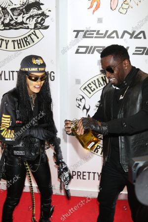 Stock Image of Teyana Taylor and Sean Combs at Teyana Taylor's Dirty 30 celebrating her 30th birthday