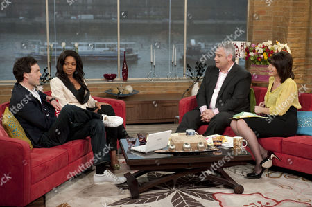 Stock Photo of Brendan Patricks and Naomie Harris with Eamonn Holmes and Ruth Langsford.