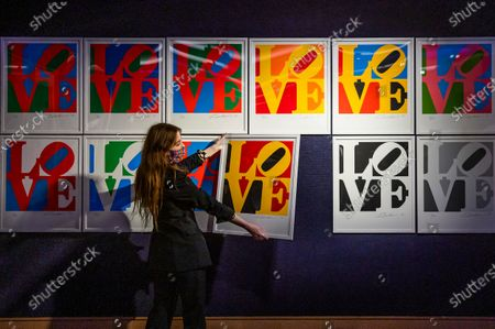 The Book of Love by Robert Indiana, est £60-80,000 at the Preview of Bonhams' Prints & Multiples sale. The Sale will take place on 15 December.