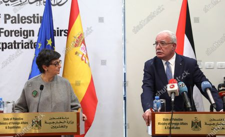 Editorial picture of Spanish Foreign Minister in Ramallah - 10 Dec 2020