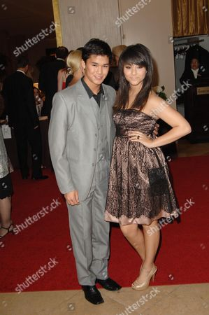 Stock Image of Nils 'Boo Boo' Stewart and sister Fivel Stewart