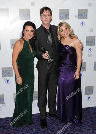Rachel Tucker, Michael McCabe and Louise Dearman accept The Audience Award for Most Popular Show