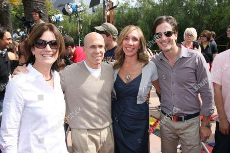Dreamworks Animation's Ann Daly, Jeffrey Katzenberg, Anne Globe and Bill Damaschke