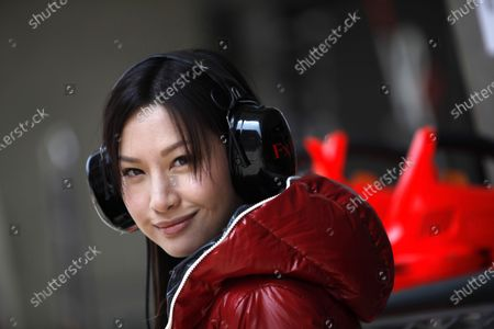 Shanghai International Circuit, Shanghai, China 16th April 2010 Former Miss Hong Kong Kate Tsui in the Virgin garage. Portrait. VIPs. World Copyright: Glenn Dunbar/LAT Photographic