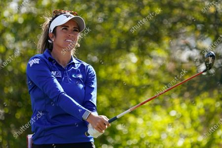 Stock Picture of Gerina Piller follows her shot from the 12th tee, during the first round of the U.S. Women's Open Golf tournament, in Houston