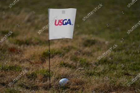 Cristie Kerr's shot on the 11th hole, during the first round of the U.S. Women's Open Golf tournament, in Houston